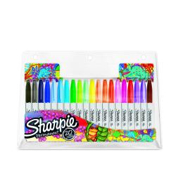 Markery permanentne Sharpie - zestaw 20 kolorów