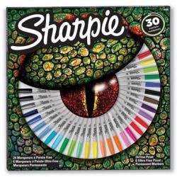 Markery permanentne Sharpie Fine - zestaw 30 kolorów