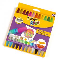 Pastele olejne Bic Kids - 24 kolory