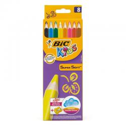 Kredki ołówkowe Bic Kids Super Soft - 8 kolorów