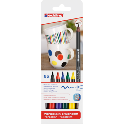 Pisaki Edding do powierzchni ceramicznych - 6 kolorów