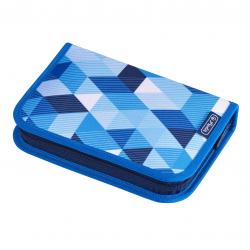 Piórnik Herlitz z wyposażeniem - 31 części - Blue Cubes