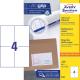 Trwałe etykiety uniwersalne A4 Avery Zweckform - 105x148mm /100 ark