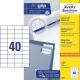 Trwałe etykiety uniwersalne A4 Avey Zweckform - 52,5 x 29,7mm /100 ark