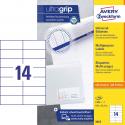 Trwałe etykiety uniwersalne A4 Avery Zweckform - 105x42,3mm /100 ark