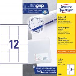 Trwałe etykiety uniwersalne A4 Avery Zweckform - 70 x 67,7mm /100 ark