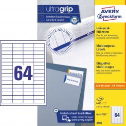 Trwałe etykiety uniwersalne A4 Avery Zweckform - 48,5x16,9mm /100 ark