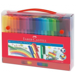 Pisaki Faber-Castell Connector - Walizka - 60 kolorów