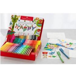 Pisaki Faber Castell Connector - Pudełko z kartkami - 60 kolorów