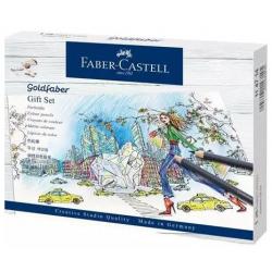 Kredki akwarelowe Faber-Castell Goldfaber Aqua - 17 kolorów - zestaw prezentowy