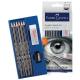 Zestaw ołówków Faber-Castell Goldfaber - 6 szt + gumka + temperówka