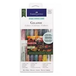 Kredki pigmentowe Faber-Castell Gelatos - 12 sztuk - półprzezroczyste
