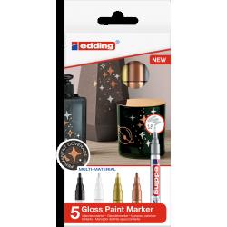 Markery olejowe Edding 751 - metaliczne - zestaw 5 szt