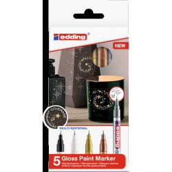 Markery olejowe Edding 780 - metaliczne - zestaw 5 szt