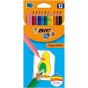 Kredki ołówkowe Bic Kids Tropicolors  - 12 kolorów