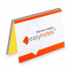 Notes elektrostatyczny EasyNotes 100x70mm - rainbow