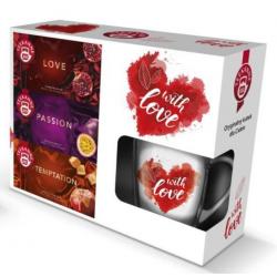 Herbata Teekanne Love - zestaw 3 herbat z kubkiem (edycja limitowana)