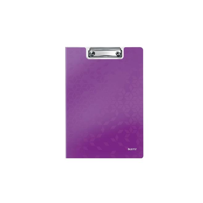 Deska z klipem i okładką Leitz WOW - fioletowa