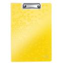 Deska z klipsem i okładką Leitz WOW - żółta
