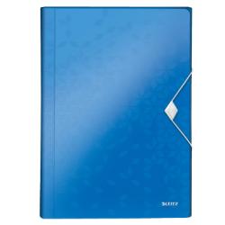 Teczka z 6 przegródkami Leitz WOW - niebieska