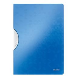 Skoroszyt PP z klipsem Leitz WOW - niebieski