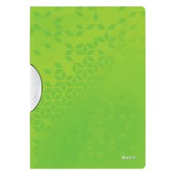 Skoroszyt PP z klipsem Leitz WOW - zielony