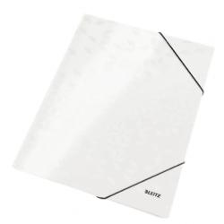Teczka kartonowa z gumką Leitz WOW - biała