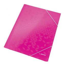 Teczka kartonowa z gumką Leitz WOW - różowa
