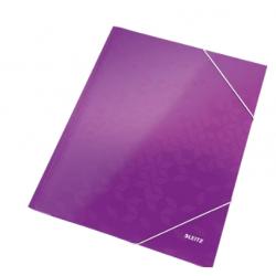 Teczka kartonowa z gumką Leitz WOW - fioletowa