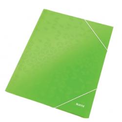 Teczka kartonowa z gumką Leitz WOW - zielona