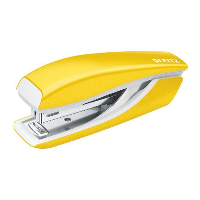Zszywacz mini Leitz WOW - żółty metaliczny