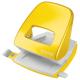 Dziurkacz duży metalowy Leitz WOW - żółty metaliczny