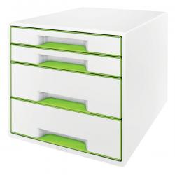 Pojemnik z szufladami Leitz WOW CUBE- zielony