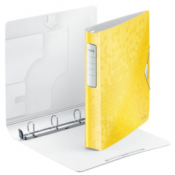 Segregator ringowy PP Leitz Active WOW SoftClick 52mm - żółty metaliczny