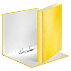 Segregator 2-ringowy Leitz WOW 40mm - żółty