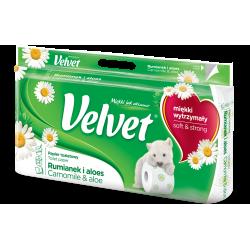 Papier toaletowy Velvet - biały rumianek / 8 rolek