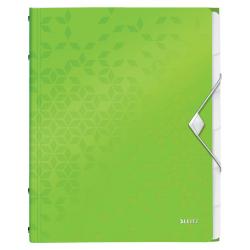 Teczka segregująca Leitz WOW 6 przekładek - zielona