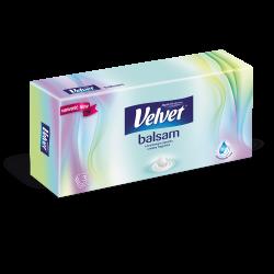 Chusteczki higieniczne Velvet Balsam o kremowym zapachu - prostokątny kartonik - 56