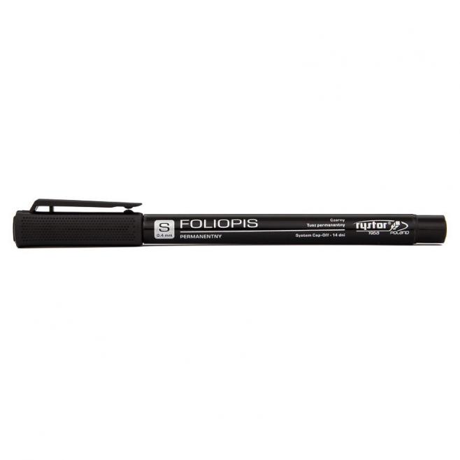 Foliopis Rystor S 0,4mm - czarny