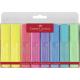 Zakreślacz Faber Castell pastel komplet w etui - 8 kolorów