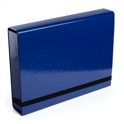 Teczka z gumką Vaupe Box Caribic 341 - niebieska