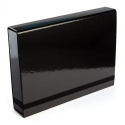 Teczka z gumką Vaupe Box Caribic 341 - czarna