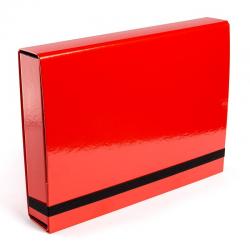 Teczka z gumką Vaupe Box Caribic 341 - czerwona