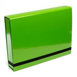 Teczka z gumką Vaupe Box Caribic 341 - jasnozielona