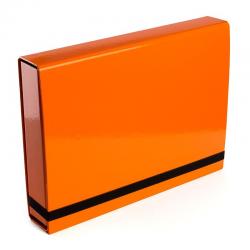 Teczka z gumką Vaupe Box Caribic 341 - pomarańczowa