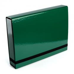 Teczka z gumką Vaupe Box Caribic 341 - zielona