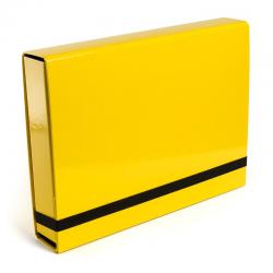 Teczka z gumką Vaupe Box Caribic 341 - jasnożółta