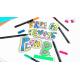 Pisaki artystyczne Edding 1200 - 4 kolory neonowe