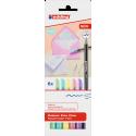 Pisaki artystyczne Edding 1200 - 6 kolorów pastelowych