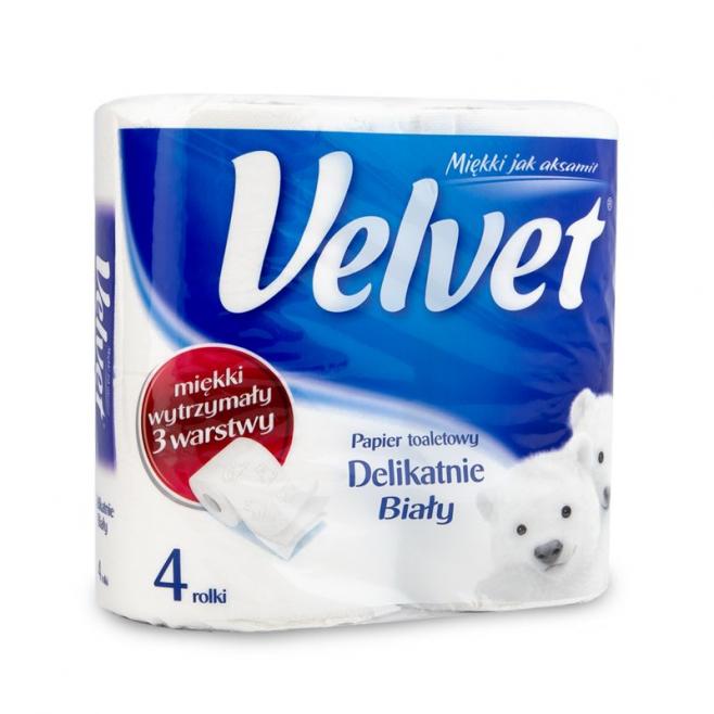 Papier toaletowy Velvet - delikatnie biały / 4 rolki